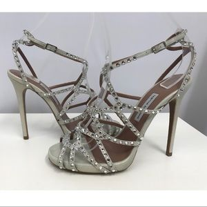 Tabitha Simmons Strappy Crystals Sandals SZ 37.5